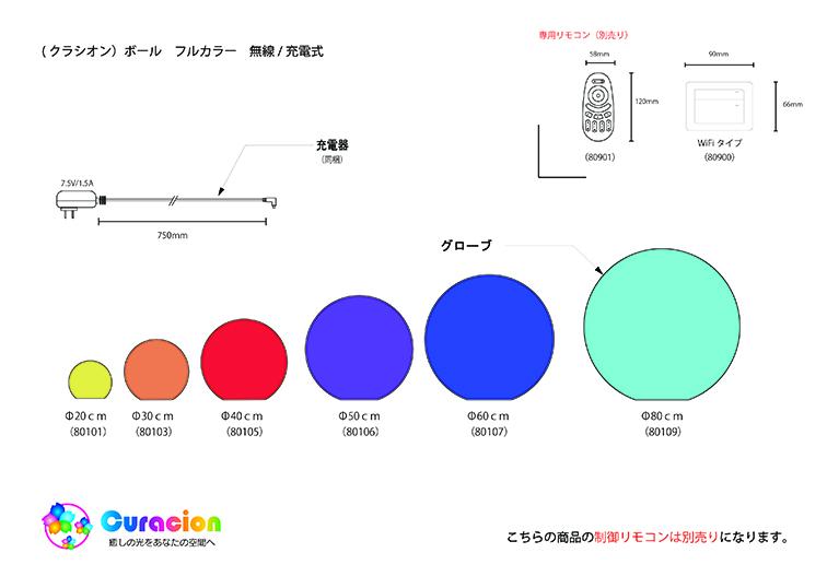クラシオン 光るボール 20cm 設計図