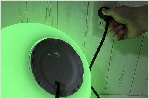 イルミネーション 光る家具 クラシオン コンセントに差し込むだけで点灯