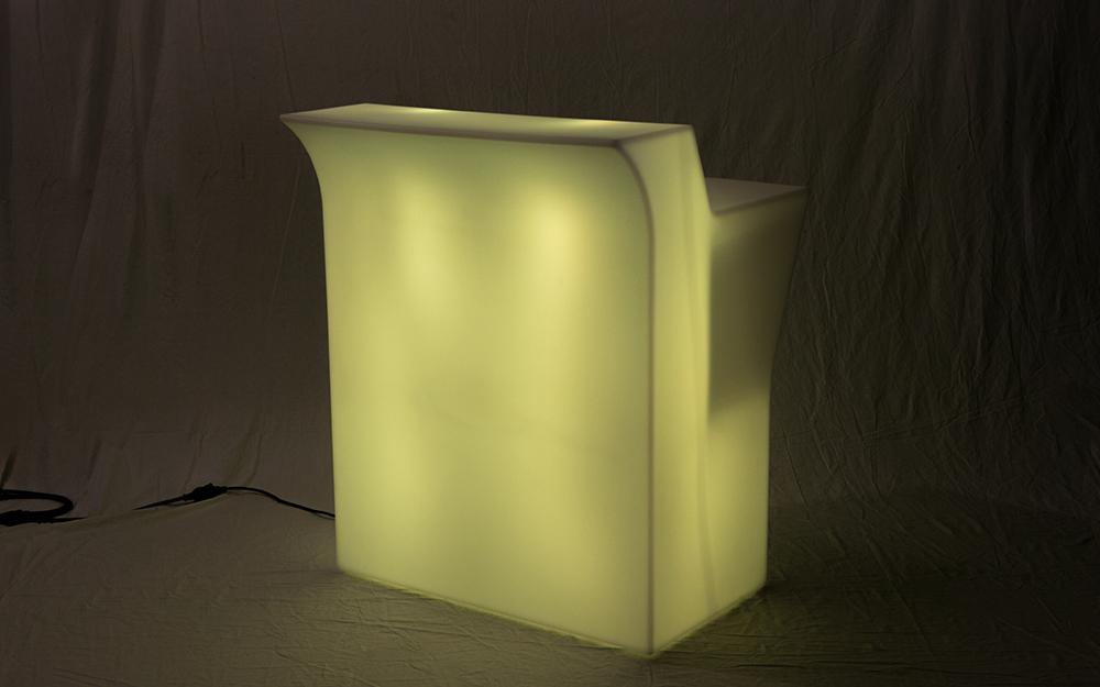 光る家具「クラシオン」ストレートカウンター