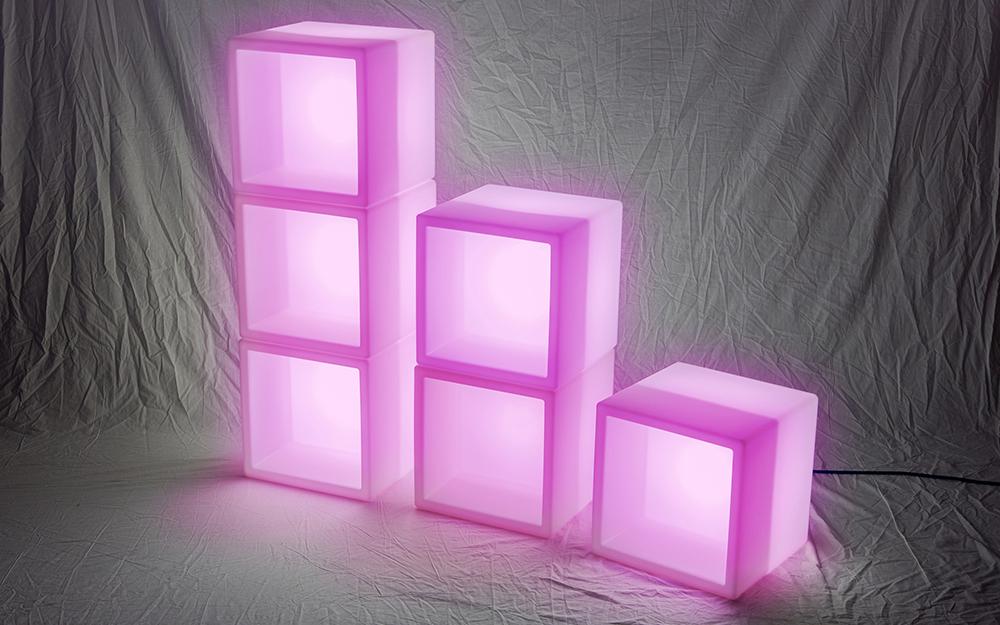 光る家具「クラシオン」キューブポット型 設置画像3