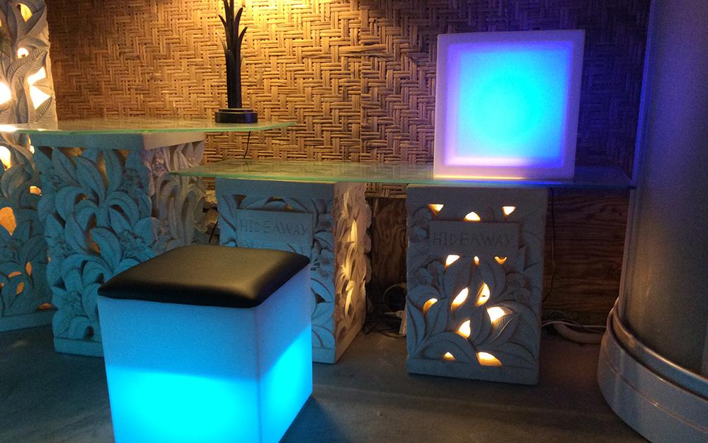 光る家具「クラシオン」キューブポット型 設置画像4