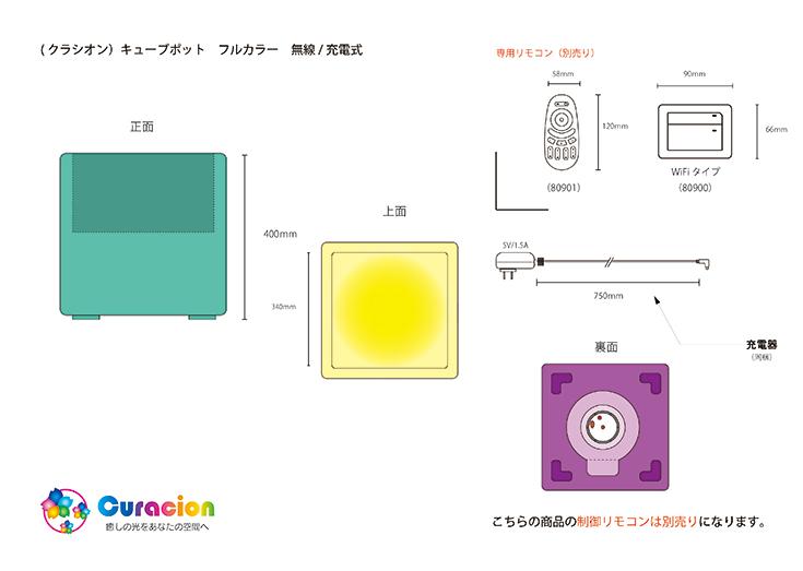 クラシオン キューブポット型 設計図