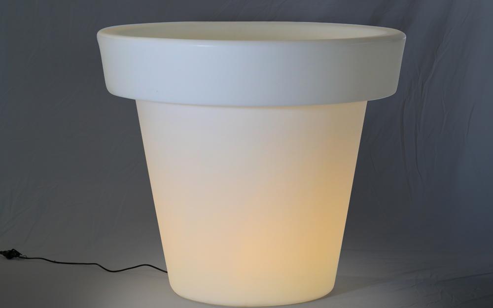 光る家具「クラシオン」フラワーポットL