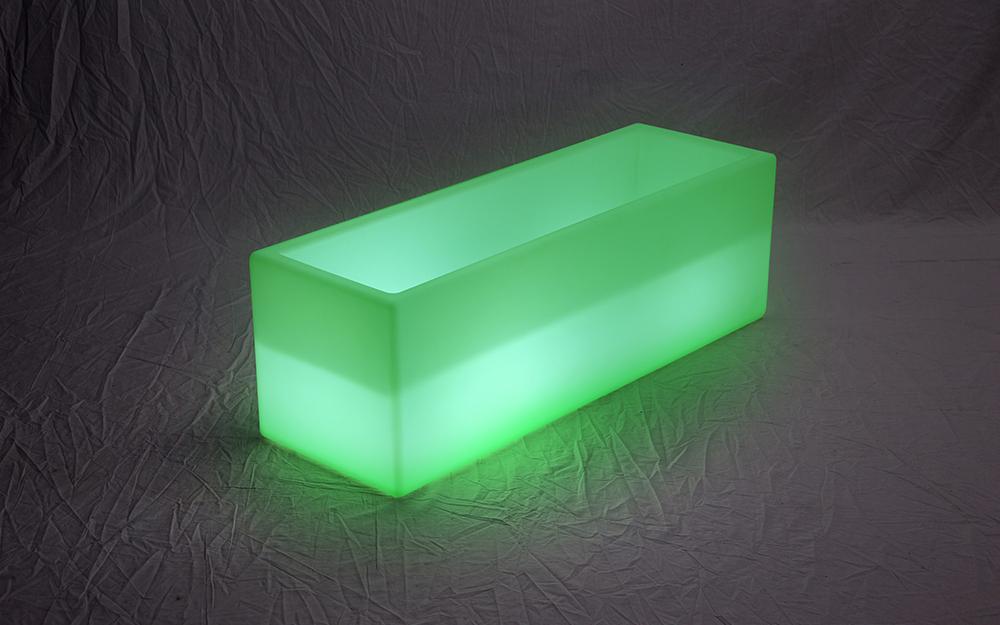 光る家具「クラシオン」ワイドキューブポット