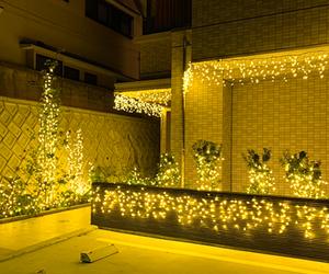 LEDクリスマスイルミネーション販売施工事例【福岡県福岡市】