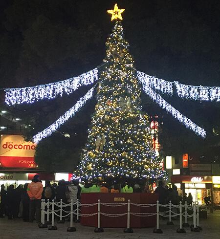 LEDイルミネーション 屋外大型クリスマスツリー