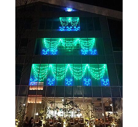 LEDイルミネーション オフィス