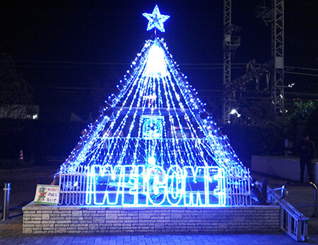 LEDイルミネーション 商店街クリスマスツリー