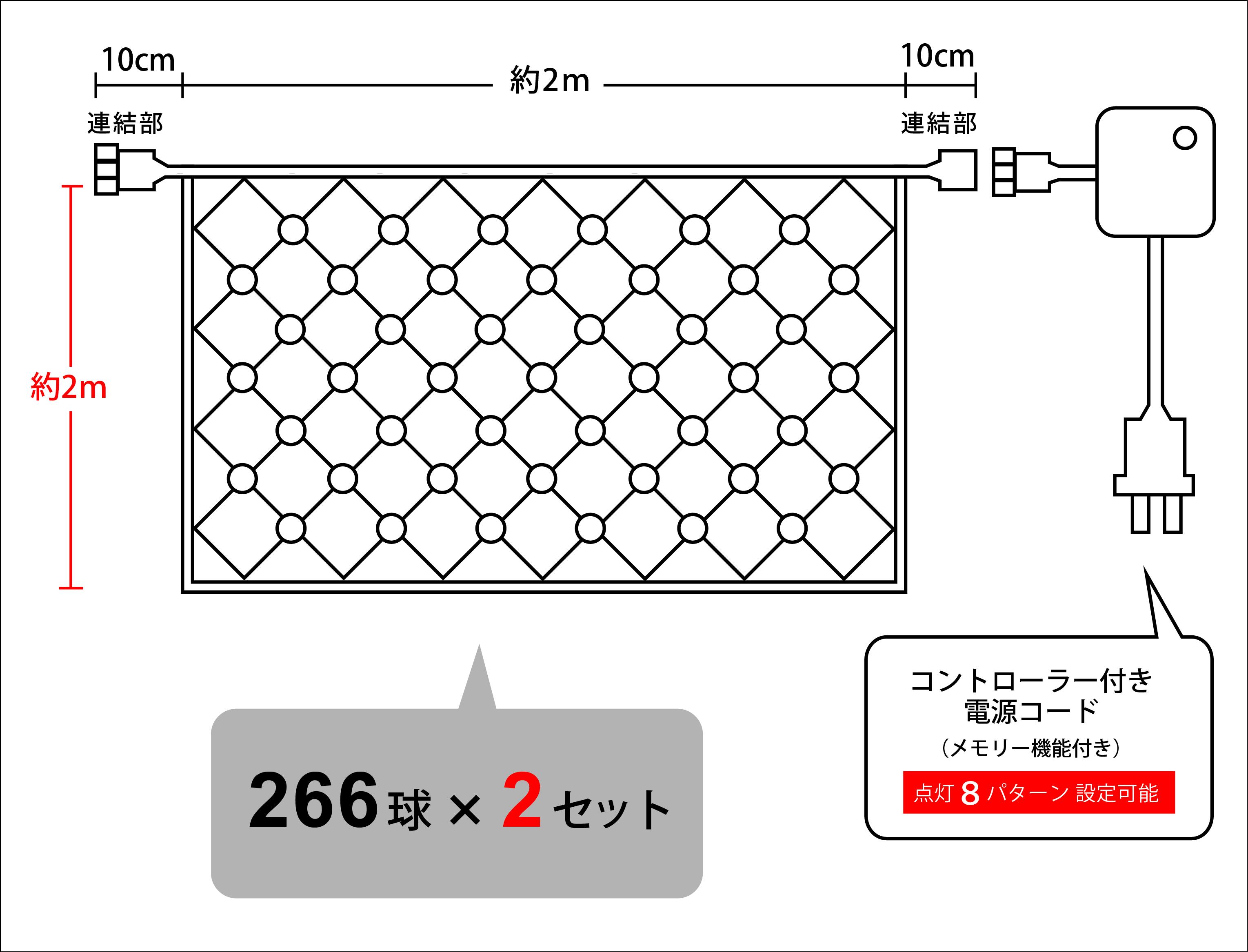 イルミネーションネットライトHV 設計図