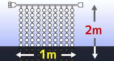 LEDイルミネーションナイアガラライト 2m