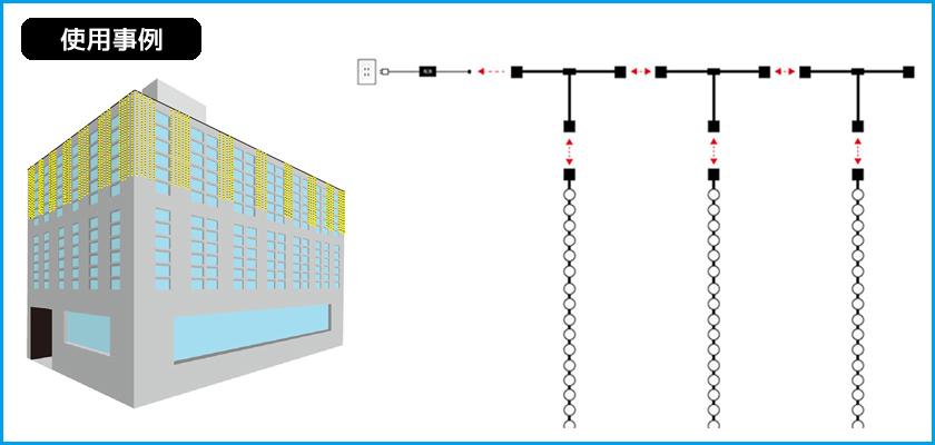 2分配連結ケーブル 使用事例2
