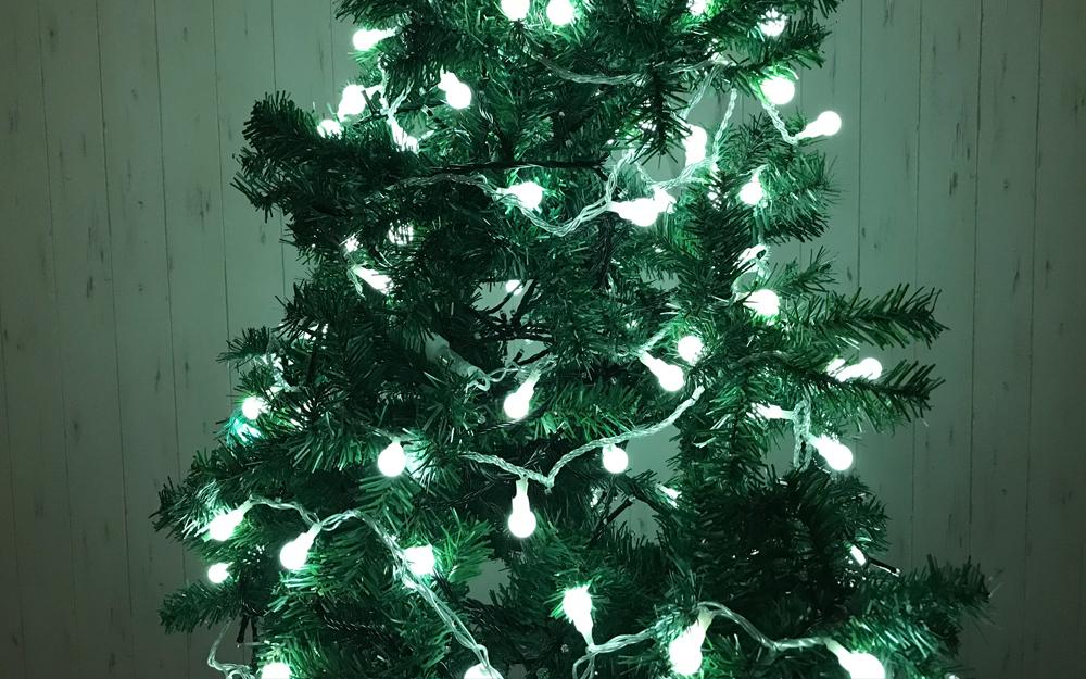 LEDイルミネーション パステルグローブライト ホワイトカラー