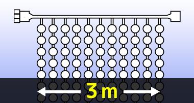 LEDイルミネーションつららライト 3m