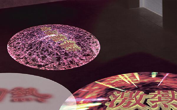 LEDプロジェクションロゴライト・ゴボライトの設置イメージアミューズメント施設の広告