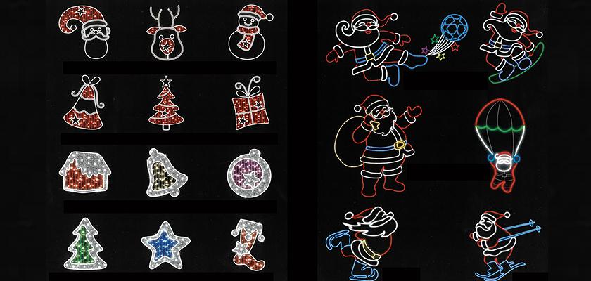 モチーフライトのクリスマス系