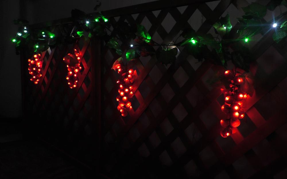 LEDイルミネーション グレープガーデンライト 取付画像2