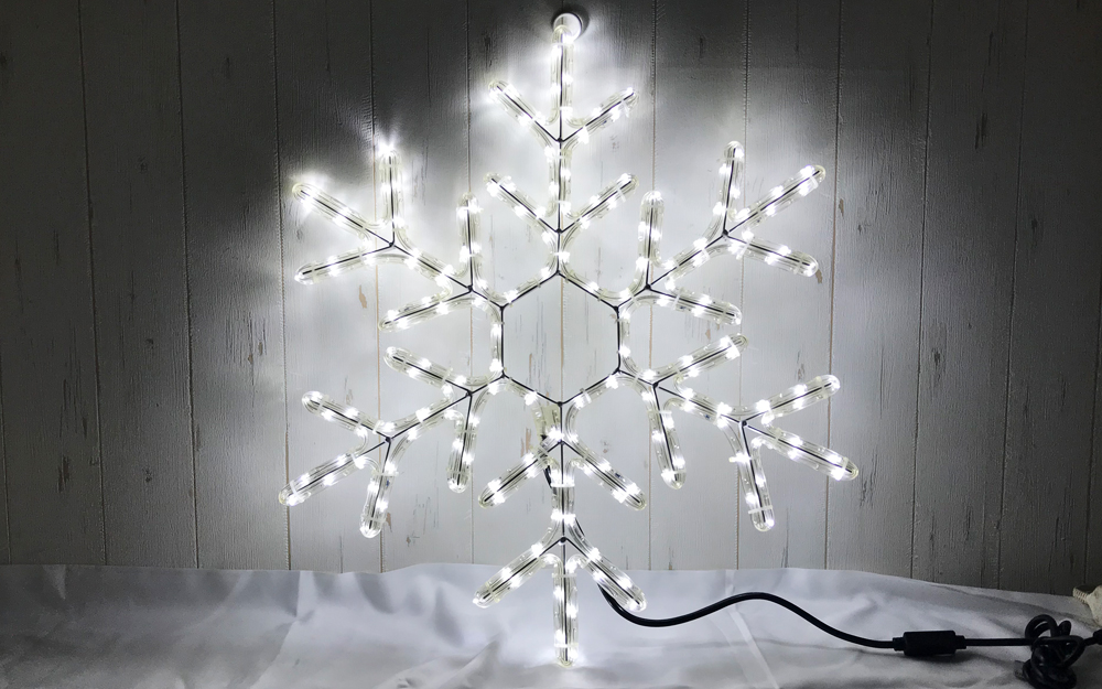 イルミネーション モチーフ 雪の結晶 ホワイト