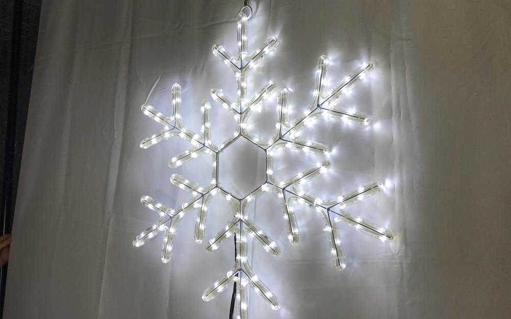 イルミネーション モチーフ 雪の結晶 ホワイト2