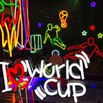 LEDネオンサインデザイン集「ワールドカップサッカー」