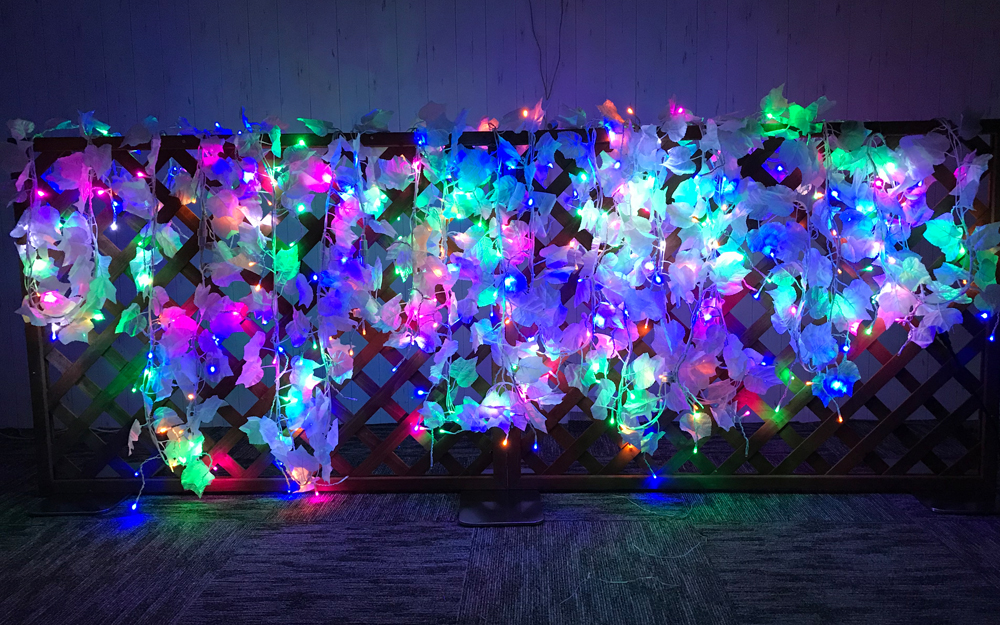 LEDイルミネーション スノーリーフライト 取付画像2