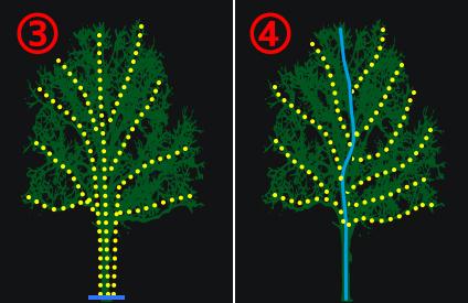 LEDストリングライトの使い方飾り方 イラスト2