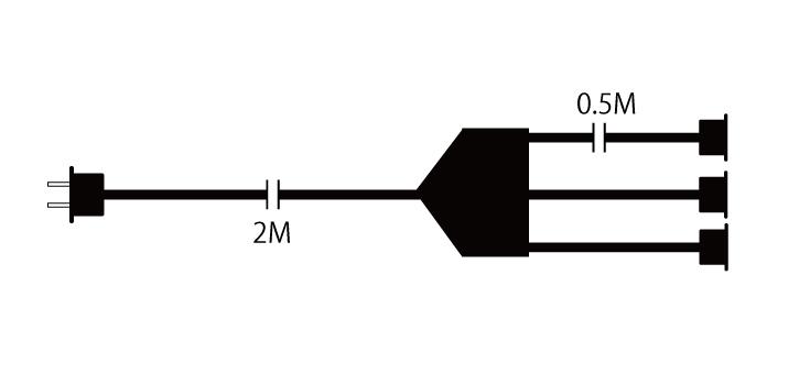 3分配延長電源コード 設計図