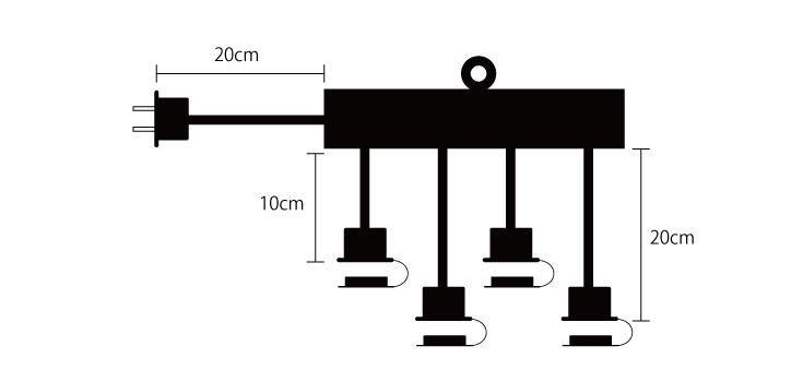 4分配延長電源コード 設計図