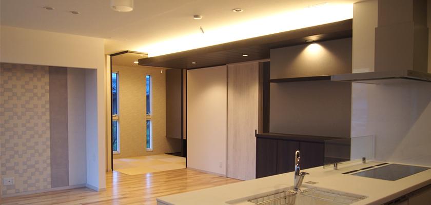 LEDテープライト ダイニングキッチンへの使い方・施工