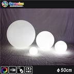 光るLED家具 クラシオン ボール 直径50cm フルカラー WiFi機能 無線充電式 (リモコン別売り)【80106】
