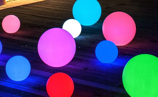 光るLED内蔵家具クラシオン ボール