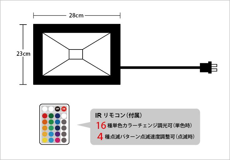 LED投光器 50W フルカラー 設計図