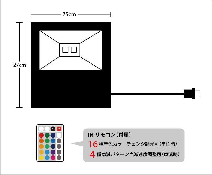 LED投光器 100W フルカラー 設計図