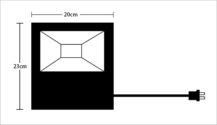 LED投光器 10W フルカラー 設計図